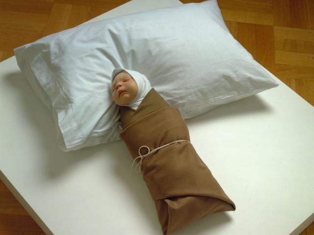 Ron Mueck, Swaddled Baby, 2002, The Collection of John & Amy Phelan, Copyright Ron Mueck