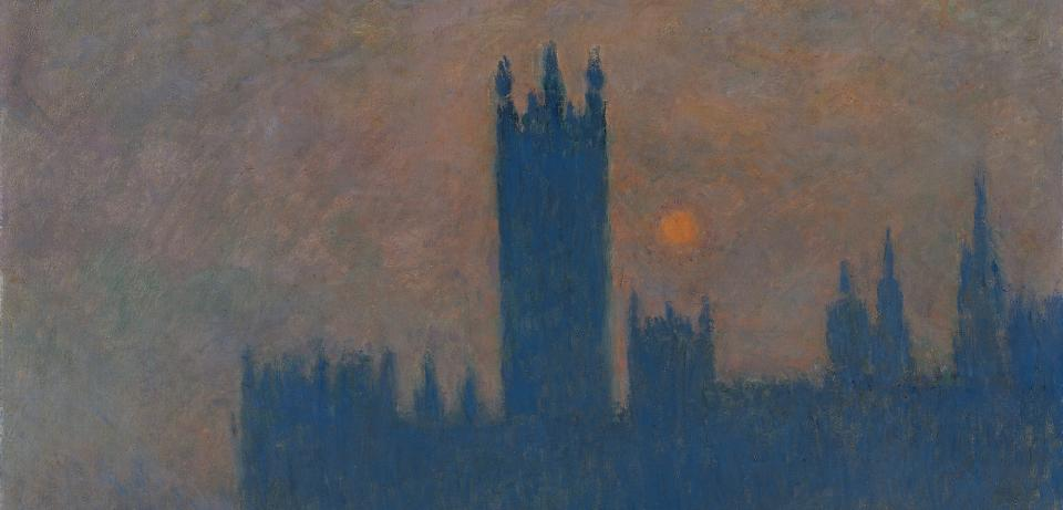 monet parliament gross Claude Monet: Das Parlament, Sonnenuntergang, 1904