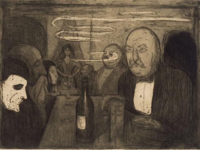 E.Munch: Kristiania-Boheme II,1895,Staatl. Museen zu Berlin ©The Munch Museum/The Munch Ellingsen Group/VG Bild-Kunst, Bonn 2011
